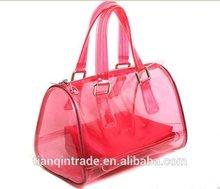 2014 alibaba express transparent PVC hand bag woman