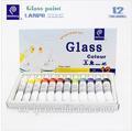 12 de verre de couleur de peinture-- bricolage. couleurs non- toxiques de sécurité meilleure vente de faire votre propre dim. capteurs de peinture kit ensemble., peinture pour verre de sécurité