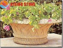 Outdoor stone garden flowerpot decoration