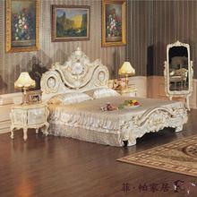 european style bedroom furnitures - luxury hand carving bed-hand carved bedroom furniture sets