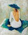 اللوحة عودة المرأة/ عودة المرأة عارية لوحة زيتية/ عودة المرأة فنون الرسم