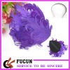 purple curl feather for hair decoration