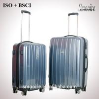 Aldi design 2 pieces set pure PC travel trolley luggage bag set