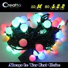 Waterproof 10M 80/100 bulbs LED fairy String light Christmas Lighting