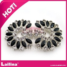 unique black acrylic with crystal rhinestone buttons for dress sash clasp