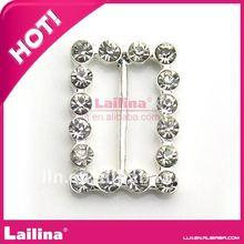 la moda y brillante de plata de cristal de diamante de imitación hebilla de cinturón para la invitación