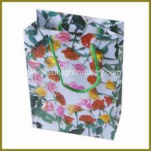 fancy flowers design gift bag ideas
