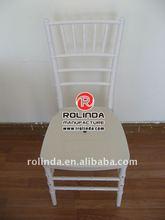 White Resin Banquet Hotel Chiavari Chair For Sale