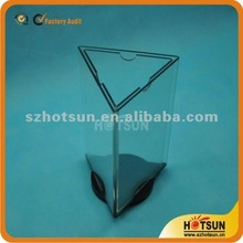 3 sides acrylic menu rotating stand