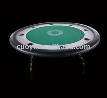 "52"" Round Poker Table with foldable iron leg"