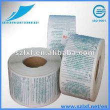 glossy self adhesive paper, printed label