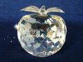 Hermosa manzana Cristal adornos de Navidad gracia