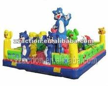 Interesting cat large bouncy castle for park in 2012