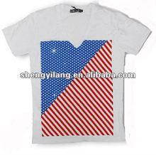 men's custom designs v neck t shirts R0294
