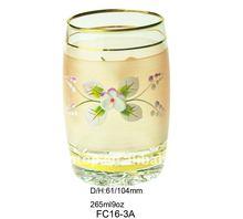 Drinking glass/100%pure gold decoration/Elegant design/FC16-3A