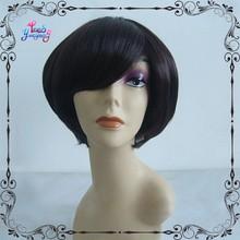 Dark brown short hair cut fluffy natural fashion wigs