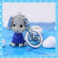 Live Animal design Rhinestone Keychain Jeweled Keyring Key Tag Key Holder