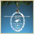 Vidro cristal gravado enfeite oval para pós-graduação presentes
