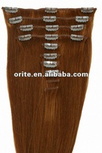 100% best quality remy hair cutting clips