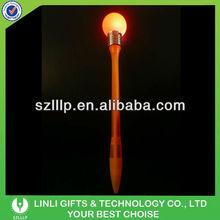 Hot sale flap light bulb ball pen