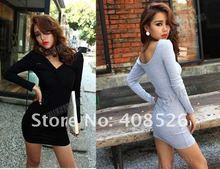 2012 New Korean Sexy Shitsuke Women's Night Entertainment Venue Bag Hip Skirt Render Mini Dress 3546