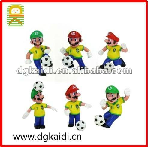Lujex(TM) 6 pcs Nintendo Super Mario Bros Brazil Soccer Action Figures
