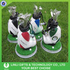 green and white golf cart bag wtih watch and green lawn