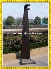 wicker rattan outdoor shower SCGS-001