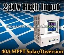 40A 12v 24v 48v 240v MPPT solar charge controller solar charger controller wind charge controller