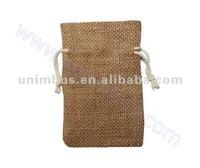 drawstring jute seeds packaging bag