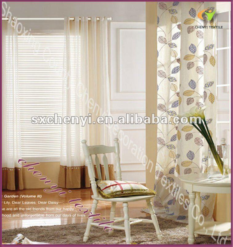 100% polyester lumière propre mode belle modèle rideau de ...