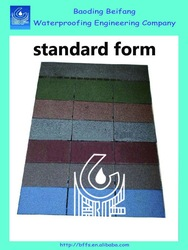 bitumen colorful standard form waterproof fiberglass roof tile