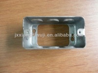 Electrical rectangle switch metal outlet box,
