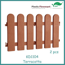 Injection molded plastic fence garden