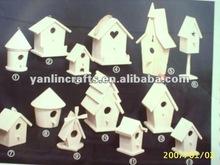 Eco-friendly wooden bird house