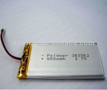 3.7V 800mAh rechargeable lithium-polymer battery pack