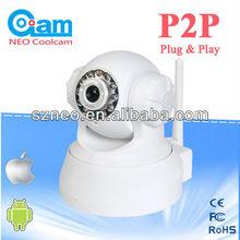 Hidden wifi indoor Pan/Tilt Mini 3G network wireless P2P IP camera NEO coolcam