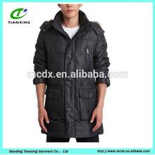 fur collar Popular black fashion mens down jacket
