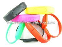 Fashion Irresolute Wristband Silicone Bracelet USB Drive