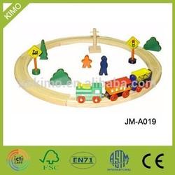 19pcs wooden track