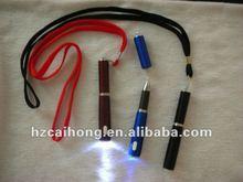 Mini ballpen with light ballpen with string CH-6569