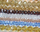 Strands acrylic crystal glass bead