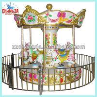 6-seat Mini Kiddie Carousel , Mini Donkey, Merry-go-round