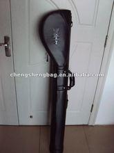 Black pu leather golf gun bag