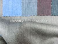 yarn dye solid colors twill linen fabric