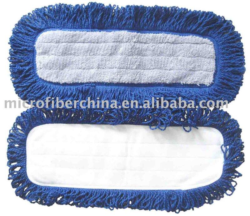 Microfiber Cloth Mop Pad Microfiber Dust Flat Mop Pad Fringed Dry Dust Mops Microfiber Mop Head