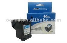 For HP 60XL Black Ink Cartridge hp 60XL replace for CC641WA