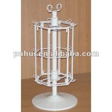 metal wire rotating counter pegs display