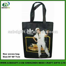 Custom Michael Jackson non woven recycled Folding Shopping Bag