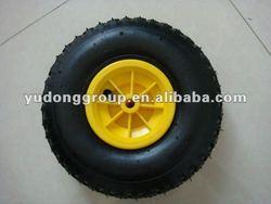 small pneumatic rubber wheel with plastic rim 3.00-4,3.50-4